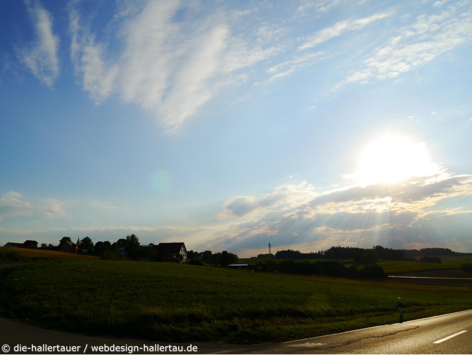 Sonnenstrahlen bei Sillertshausen