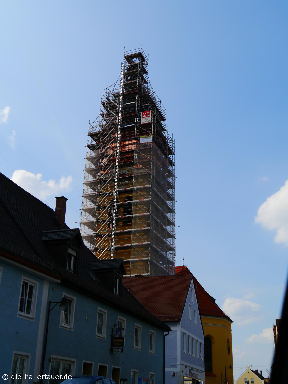 Kupferdach Kirchturm Wolnzach