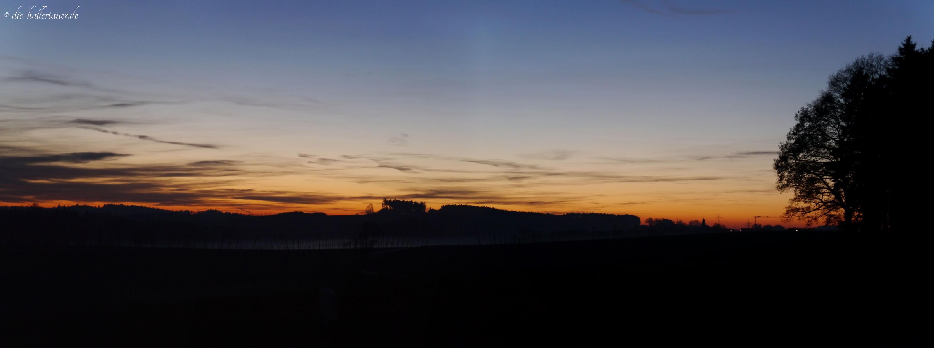 Sonnenuntergang Rudertshausen