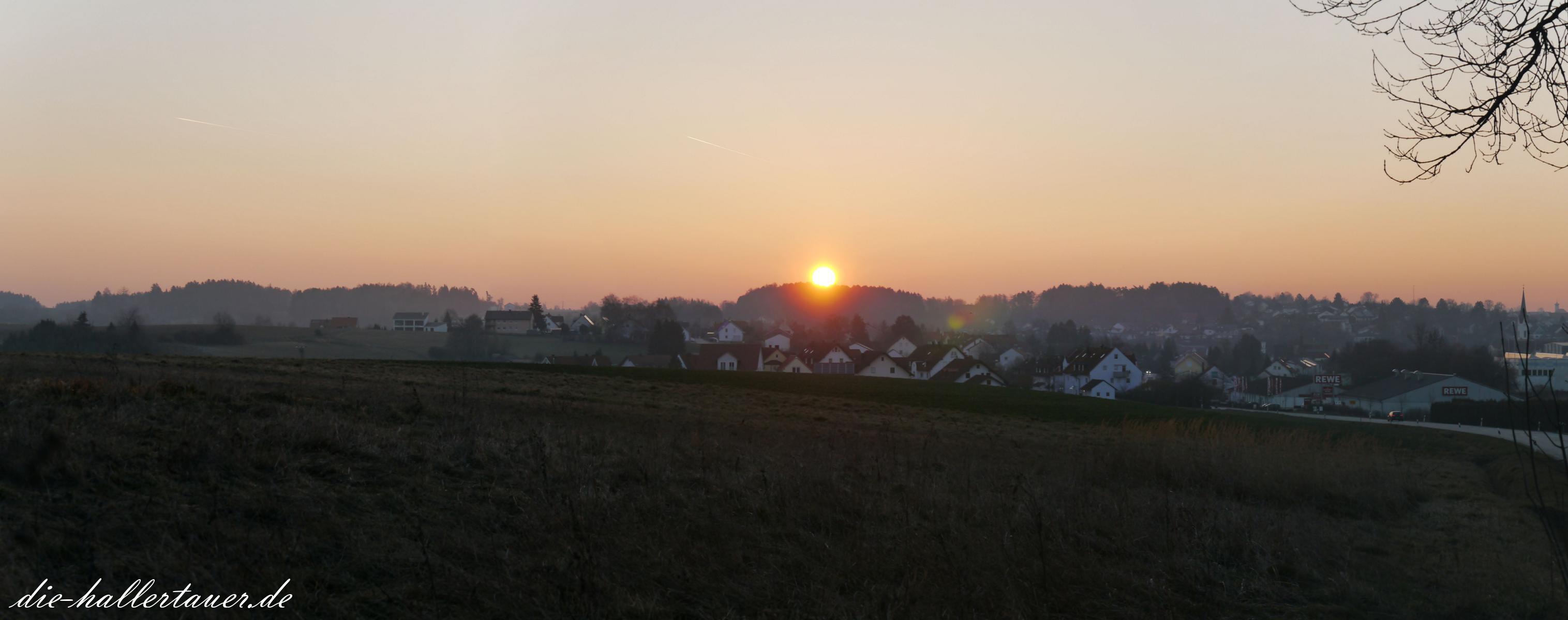 Sonnenaufgang über Nandlstadt